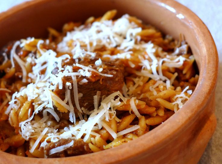 Giouvetsi (Beef stew with Orzo pasta)