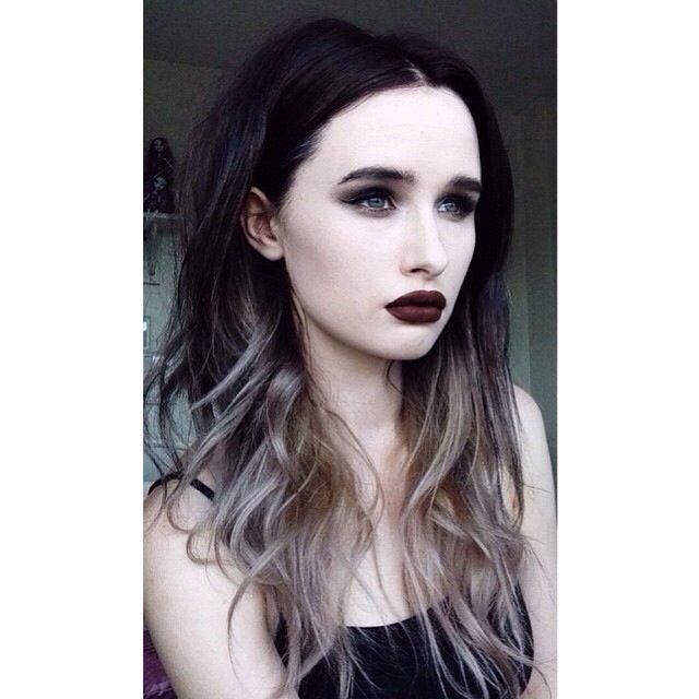 (Via rachelgeorgina Instagram) black to silver ombre hair
