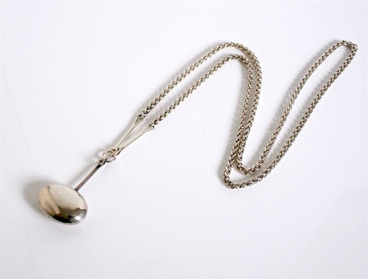 Rare Foxtail chain & pendant Designed by Vivianna Torun Bulow Hube for Georg Jensen Denmark c.1960