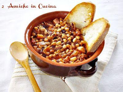 Zuppa di Fagiolina del Lago Trasimeno e Prosciutto   2 Amiche in Cucina