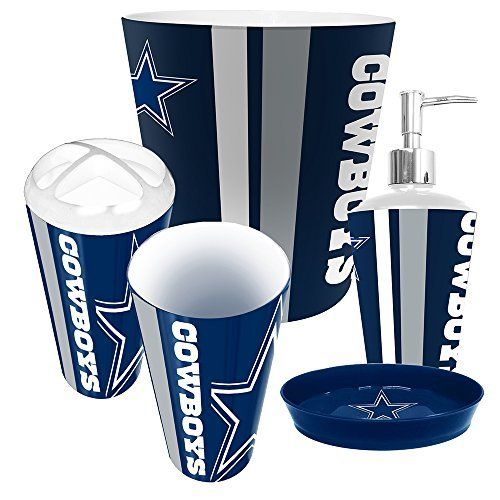 Dallas Cowboys NFL Complete Bathroom Accessories 5pc Set http://www.sportstation.com/Dallas-Cowboys-Complete-Bathroom-Accessories/dp/B00MQ17ZCC
