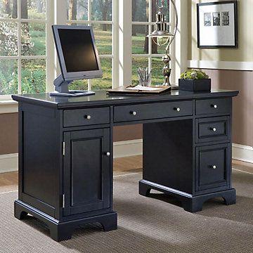 Ebony Finish Computer Desk, HOT-5531-18, Computer desk, Ebony finish, Traditional Style.
