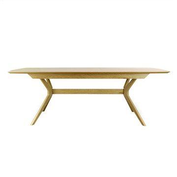 Dettar Wooden 180-220cm Extension Dining Table