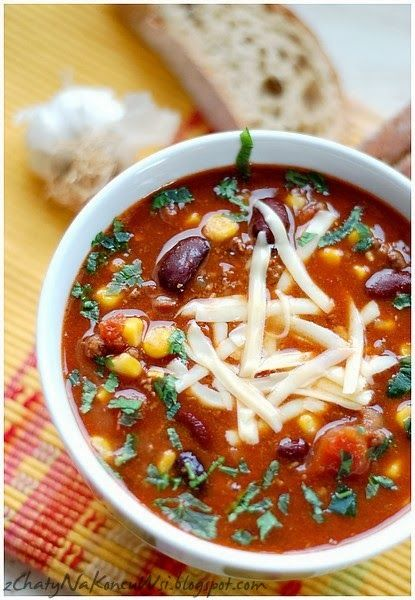 Kolejny, doskonały przepis który dostałam od Asi. Pikantna, sycąca zupa idealna na chłodniejsze wieczory.