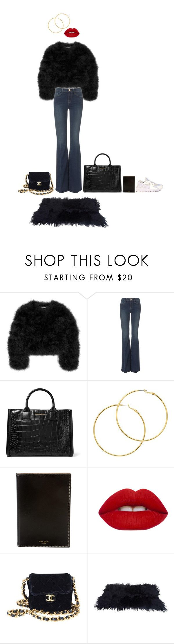 """""""Untitled #5"""" by aicaia ❤ liked on Polyvore featuring Diane Von Furstenberg, Frame, Karl Lagerfeld, Melissa Odabash, Kate Spade, Lime Crime, Chanel, NIKE, Fall and autumn"""