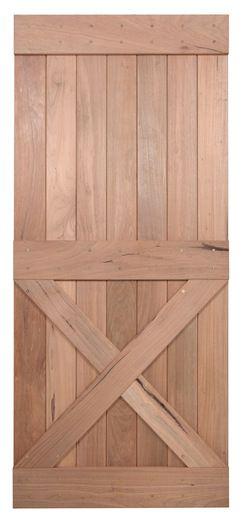 "36"" Walnut Interior Barn Door | Single X | INTERIOR DOORS  | Surplus Building Materials | Dallas - Fort Worth"