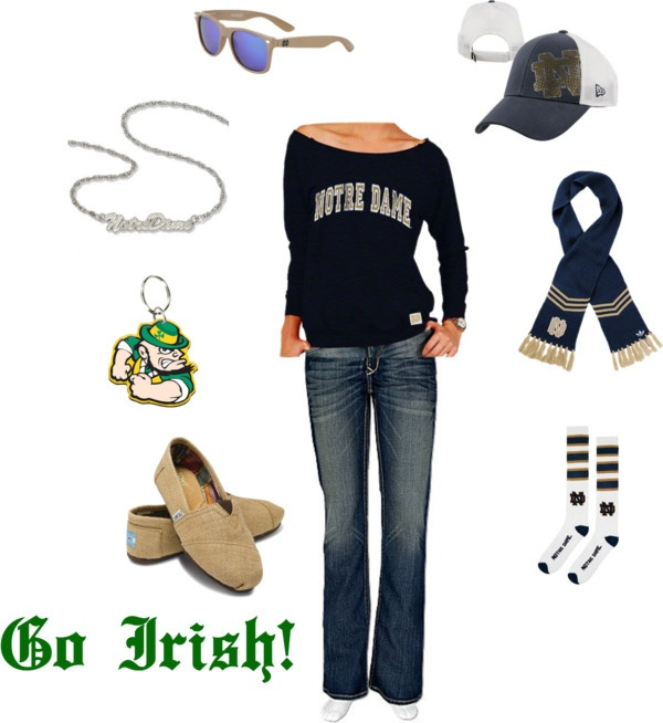 """Notre Dame Women's Outfit"" by ajudson on Polyvore"
