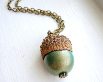 Popular items for acorns jewelry on Etsy
