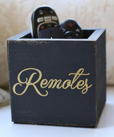 Another great find on #zulily! Gold & Black 'Remotes' Holder #zulilyfinds