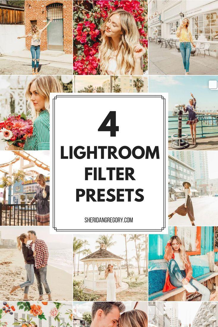 PresetsBySheridan — 4 Lightroom Filter Presets (Mobile  DNG