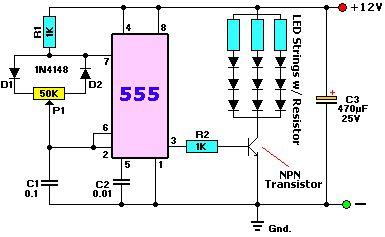 Variador de intensidad de luz para tiras de led