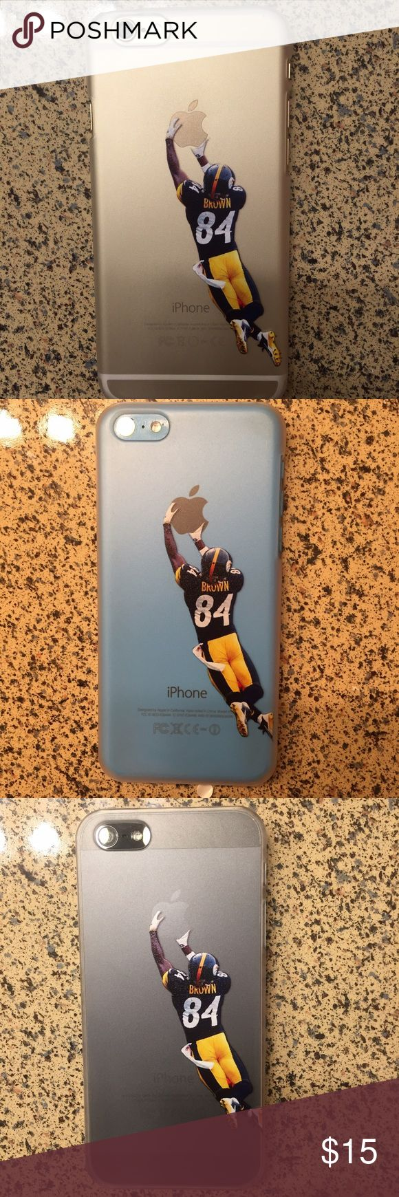 Antonio Brown Steelers iPhone case New iPhone Antonio Brown semi transparent plastic shell case with printed image not a sticker Different sizes available Jordan Accessories Phone Cases