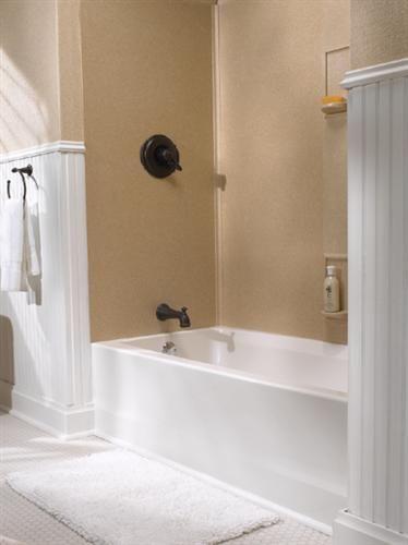 Garden Tub Wall Decor: 27 Best Images About Bathtub Surrounds On Pinterest