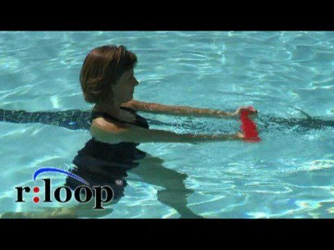 Water exercise using the rloop resistance band for aquatic therapy or fitness youtube water for Swimming pool exercises for buttocks