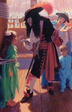 Captain Hook (Peter Pan) A Charming illustration to this story..which I hold dearly to my heart.