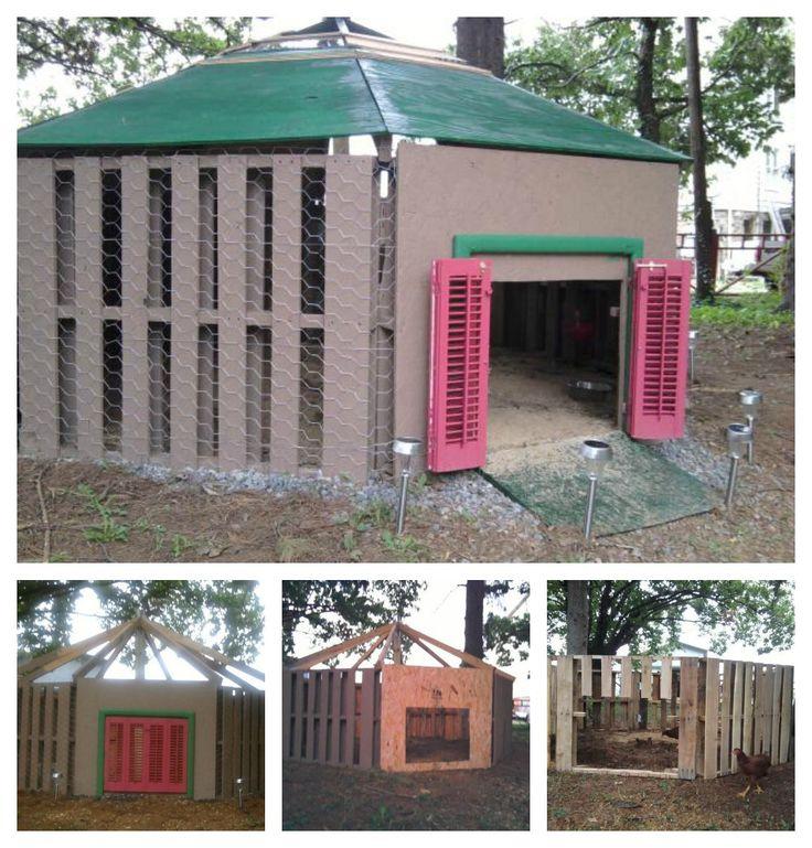 Super duper nice duck house using pallets- UNDER $100!!!!