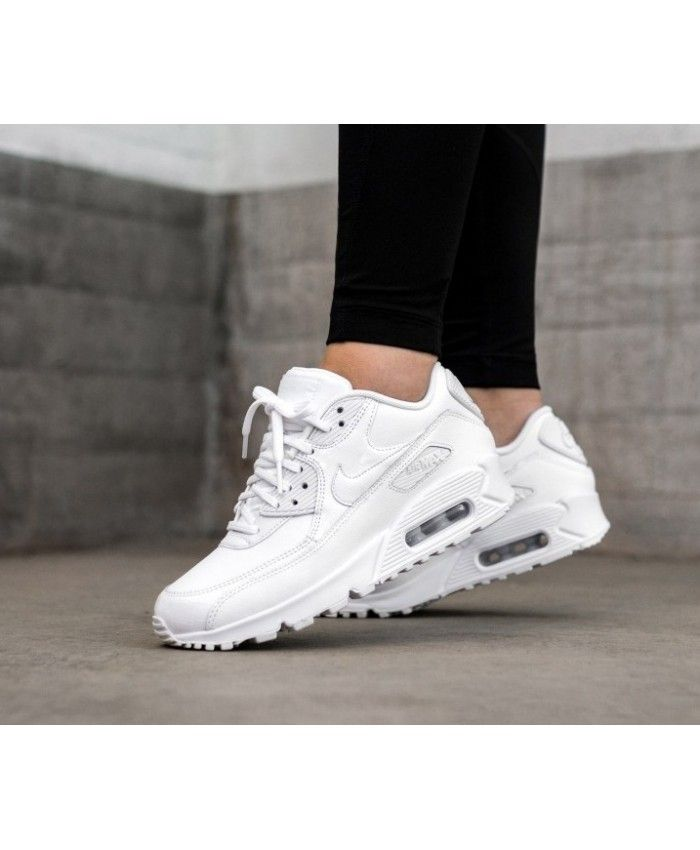 watch 478c2 4f3df Nike Air Max 90 White Trainers Clearance