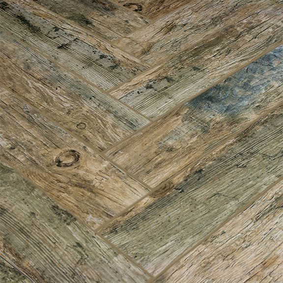 Redwood Natural 6x24 Wood Plank Porcelain Rustic Weathered And Appears To Have Some Blue Bath