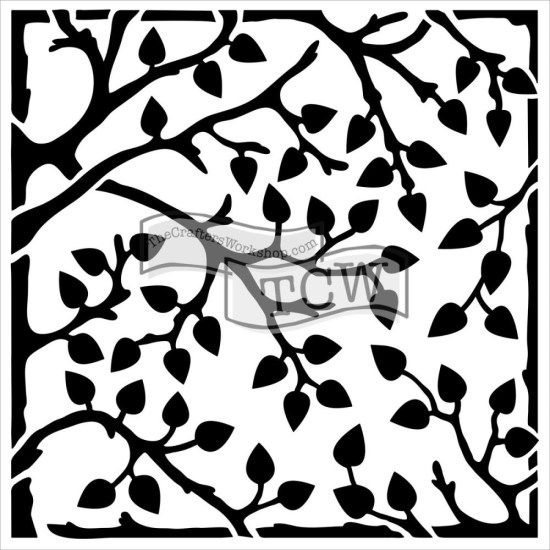 Crafters Workshop Mini 6x6 Template Leafy Branches