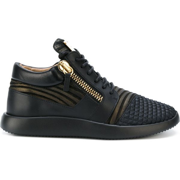 Giuseppe Zanotti Design Runner mid-top sneakers ($695) ❤ liked on Polyvore featuring men's fashion, men's shoes, men's sneakers, black, mens leather sneakers, giuseppe zanotti mens shoes, mens black leather shoes, giuseppe zanotti mens sneakers and mens black leather sneakers