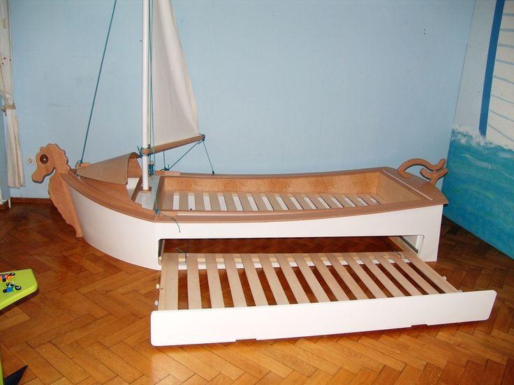 kinderbetten kinderbett segelboot lasse child s bed. Black Bedroom Furniture Sets. Home Design Ideas