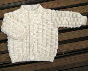Basket Weave Baby Sweater - Free Pattern