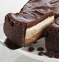 Recipe For  Triple Layer GODIVA Dream Cheesecake
