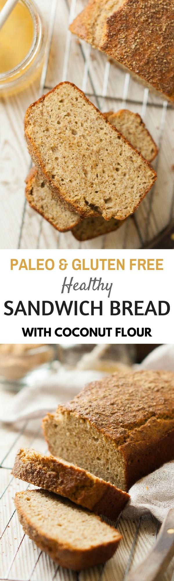 Paleo coconut flour bread. Healthy gluten free best bread recipes for the paleo diet.
