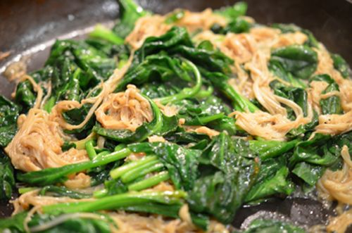 enoki spinach - add spinach                                                                                                                                                                                 More