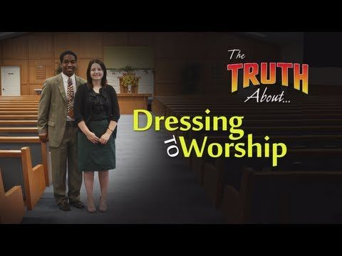 http://thetruthabout.net/video/Dressing-to-Worship Does it matter how we dress when we go to worship God? Is it only the heart that matters or does God also care about our outward appearance? What does our clothing communicate to other people? Has personal comfort and convenience become more important to us than presenting ourselves in the most respectful way possible? This lesson studies both biblical passages and societal views. You might be surprised by the conclusions.