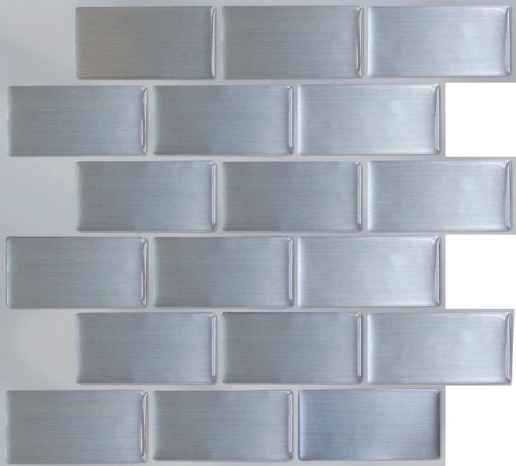 Steel Subway Stick-It tile 11.25 x 10 Single Pack (1 Tile)