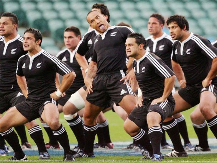 All blacks nz rugby team performing traditional maori