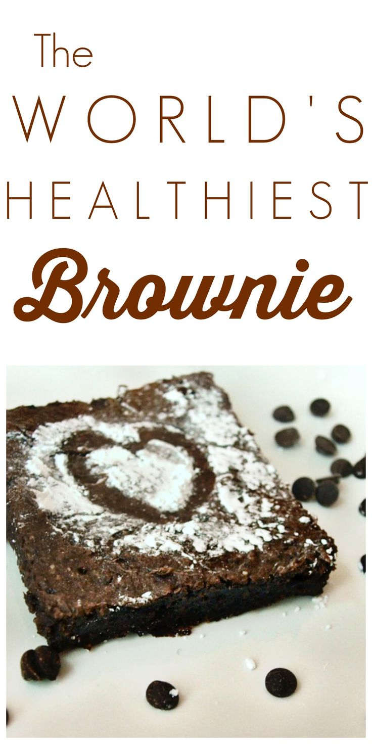 This isn't just a healthy brownie.  This is the WORLD'S healthiest brownie!  It's gluten-free, vegan, oil/butter-free, and fabulous!! You're going to feel so saintly when you  make this healthy brownie recipe.