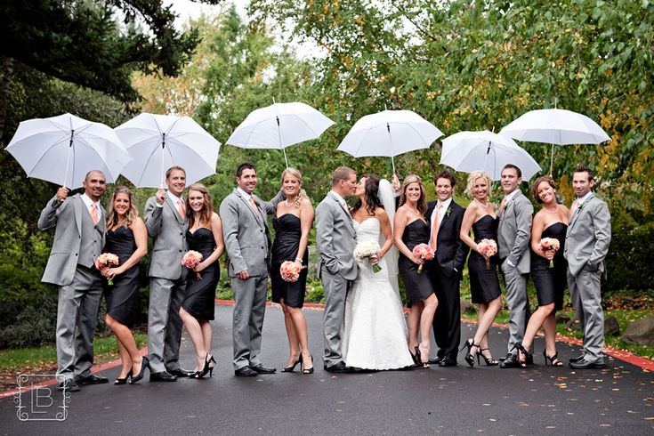 In case of rain- Always have a rain plan, even if you are getting married in August. Chances are, you won't have to use it, but it'll make the days leading up to your wedding less stressful to already have a plan in place! Consider renting or purchasing white umbrellas for photos in the rain! #rainplan