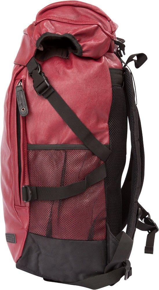 APE Leatherite Unisex Backpack - Mahroon