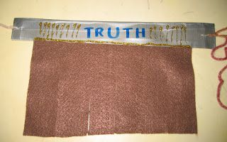 """How to make a """"Belt of Truth"""" from  Ephesians 6:13 - 18  Step by step instructions."""