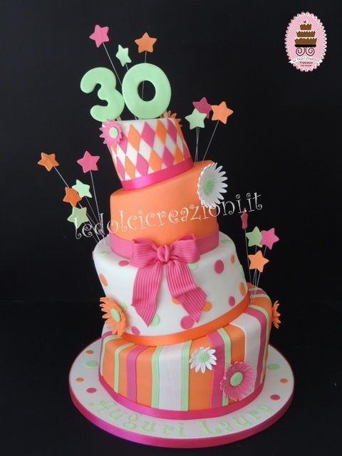 Torte di compleanno per donna, torte 18 anni,20,30,40,50,60,70,80