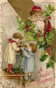 Risultati immagini per vintage father christmas cards