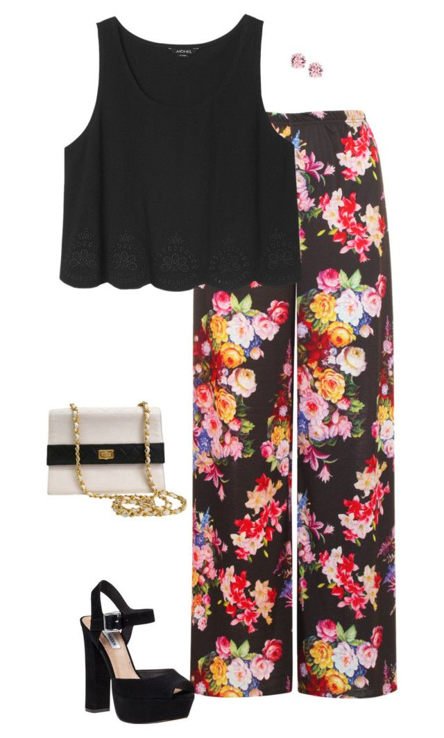 """My Dinner Party Outfit✨"" by verostyle16 ❤ liked on Polyvore featuring мода, WearAll, Monki, Steve Madden, L. Erickson и Chanel"
