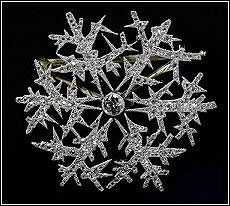 Alma Pihl for Fabergé ~Snowflake brooch, work commissioned by Dr. Emmanuel Nobel, circa 1912.