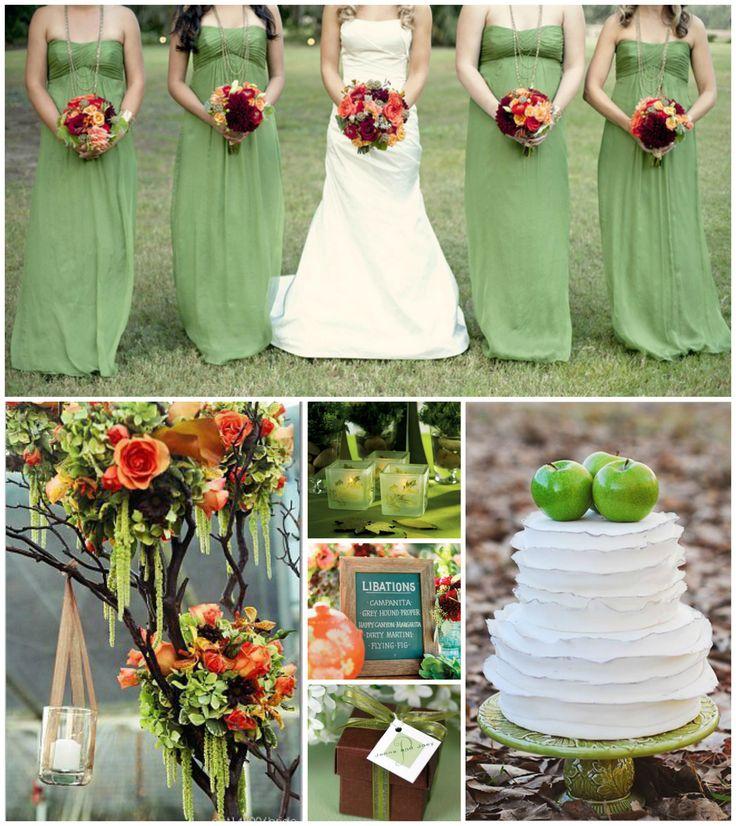 Green Fall Wedding