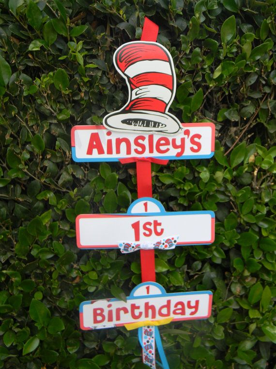 Dr Seuss Inspired Party Sign by YourPartyShoppe on Etsy, $18.00