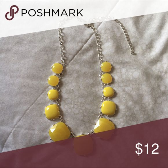 Statement necklace Super cute bright and bold yellow statement necklace Charming Charlie Jewelry Necklaces