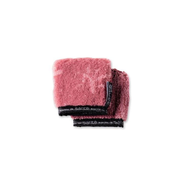 Face Glove - Blush: Reusable skin care product for natural cleansing using just water. Two-in-one face cleanser and exfoliator for a clean and clear complexion.