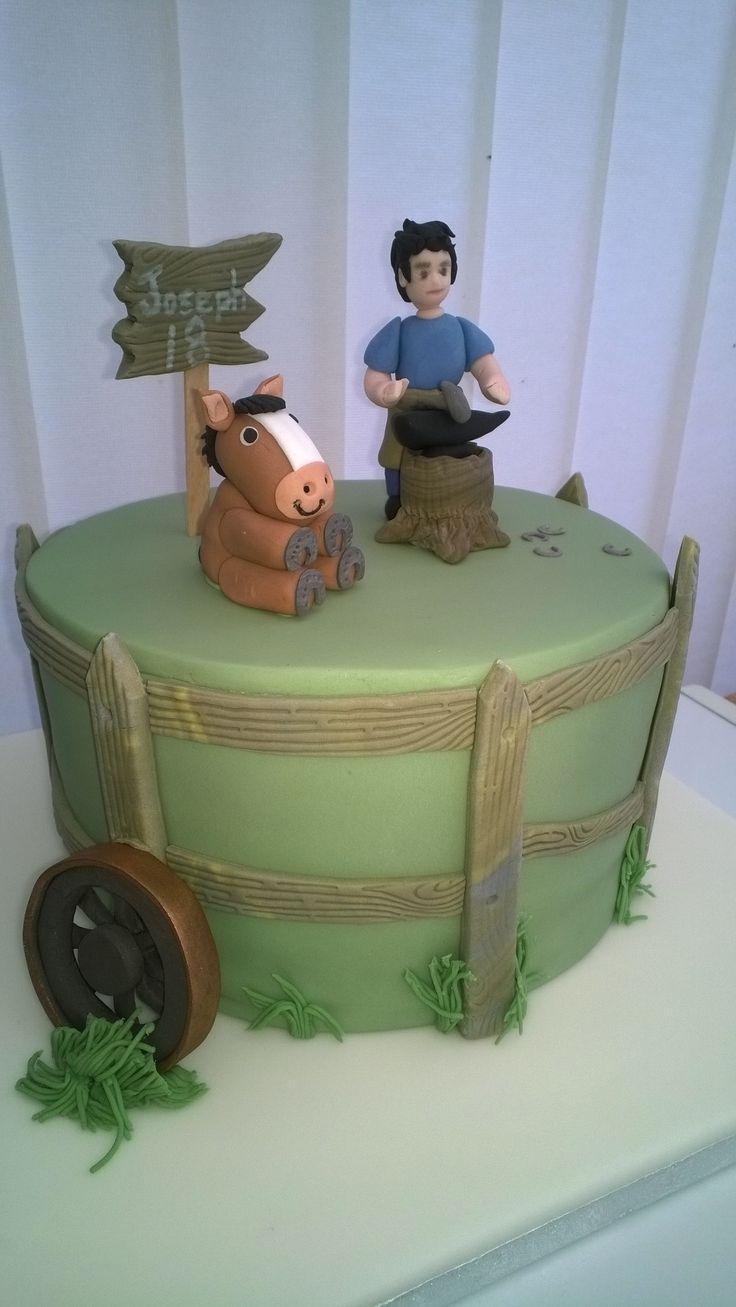 Farrier 18th birthday cake
