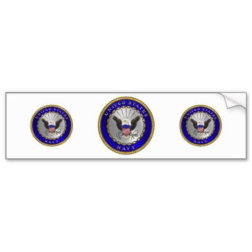 U s navy emblem bumper stickers