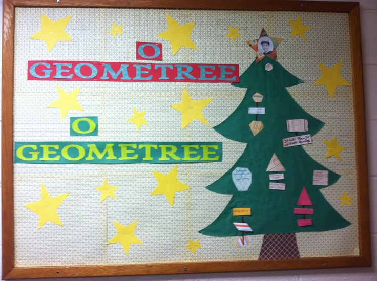 Math Classroom Door Decoration Ideas ~ Christmas bulletin board math tree by mrs smith whca