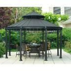 Sunjoy Victoria 14.3 ft. x 11.4 ft. Steel Round Hardtop Gazebo D-GZ846PCO-AS-136 at The Home Depot - Mobile