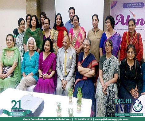 Dr. Gupta and Dr. Sharda Jain with all the best obs n gynaes of Delhi, in a recently concluded conference. #doctors #ivf #DIFC #happiness #babies