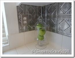 Fake Metal Sheets Stamped Tiles From Home Depot Cut To Size And
